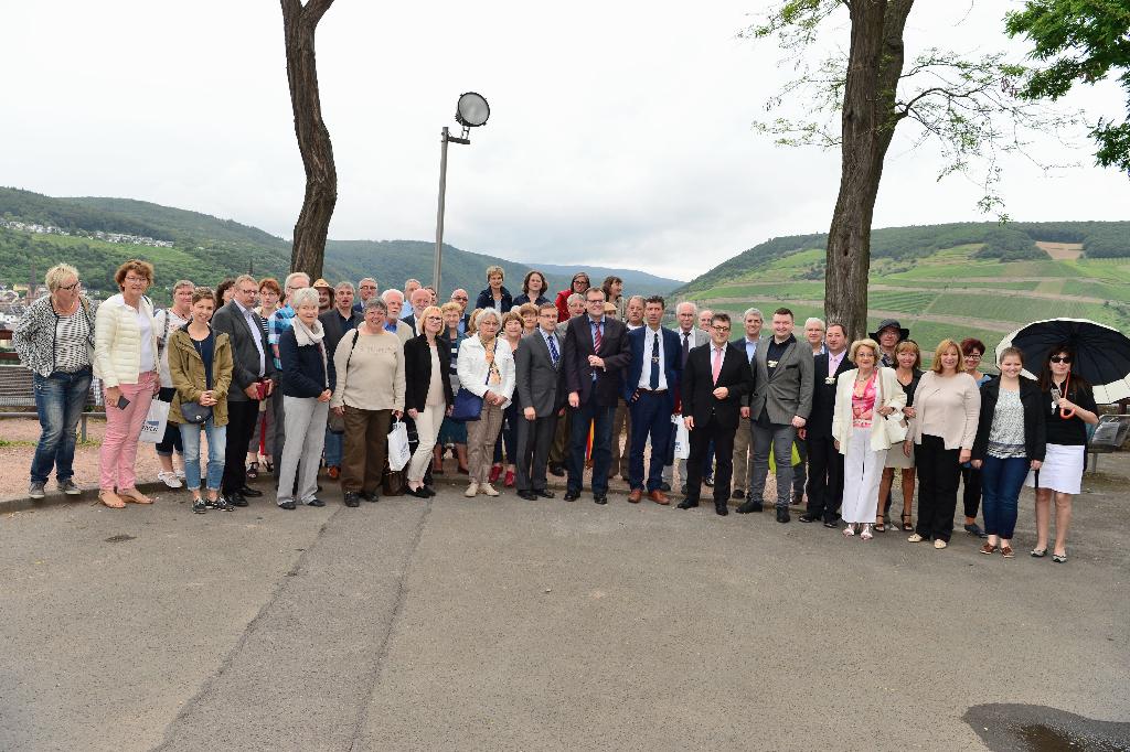 Empfang der Delegation aus Nuits-Saint-Georges am 02.07.2016 auf Burg Klopp